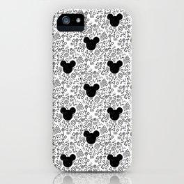 Magic Doodle - happy, magic, kingdom, neverland, wonderland, black and white iPhone Case