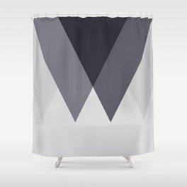 Sawtooth Blue Grey Shower Curtain