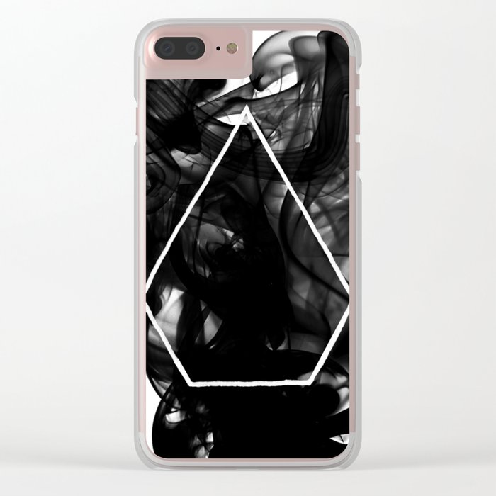 Black Smoke Clear iPhone Case