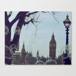Bubbles & Ben (London, England) Canvas Print