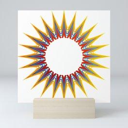 A large Colorful Christmas snowflake- holiday season gifts- Happy new year gifts Mini Art Print