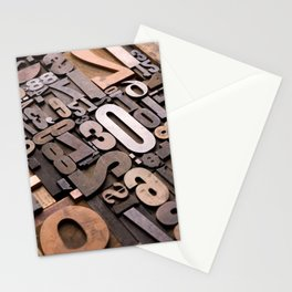Numbers - Typography Photography™ Stationery Cards