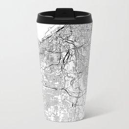 Cleveland White Map Travel Mug