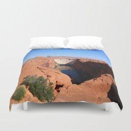 Glen Canyon Dam And Colorado River Duvet Cover