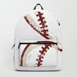 Vintage Baseball Heart product Gift Funny Softball Love design Backpack