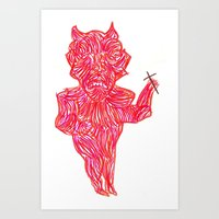 devil Art Prints featuring Devil by Guice Mann