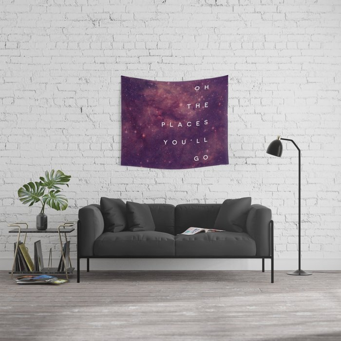 The Places You'll Go I Wall Tapestry