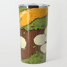 Banana Slug & Mushrooms Travel Mug