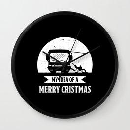 Merry Christmas | Camper van RV Gift Wall Clock