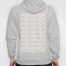 Minimal Nordic Crosses - Scandinavian Warm Grey Pattern Hoody