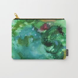 Blue Textured Abstract Carry-All Pouch
