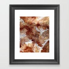 The skin of Cheetah Framed Art Print