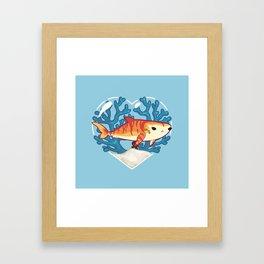 CHOMP the Tiger Shark Framed Art Print