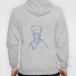 Chef Looking to Side Neon Sign Hoody
