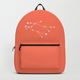 Gemini Zodiac Constellation - Coral Red Backpack