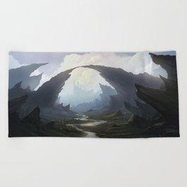 Rocky pass Beach Towel