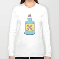 drink Long Sleeve T-shirts featuring Drink Up by erinpantz