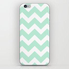 Chevron Mint Green & White iPhone Skin