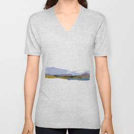 Winter Mountains Unisex V-Neck