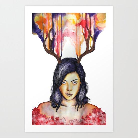 Aubrey Plaza Portrait Art Print