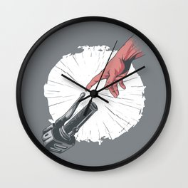 Creation Of Adam Motorcycle Wall Clock