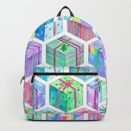 Christmas Gift Hexagons Backpack
