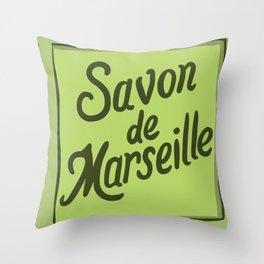 French soap artprint Throw Pillow