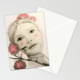 melodie in blush Stationery Cards