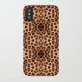 Leopard Print Kaleidoscope Abstract iPhone Case