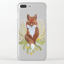 Fox Brown Clear iPhone Case
