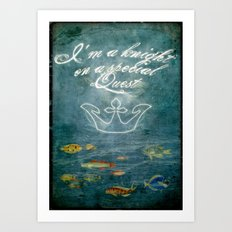 I am a Knight Art Print