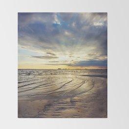 Gulf Coast Shoreline Throw Blanket