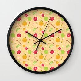 Fresh Summer Fruits Wall Clock