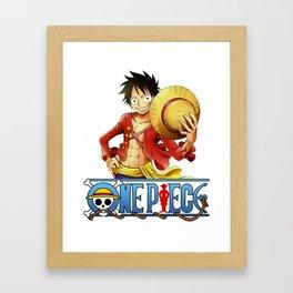 One Piece - Luffy Framed Art Print