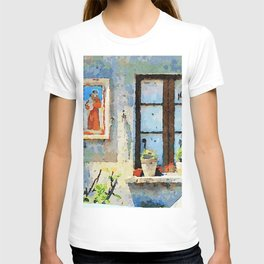 Catanzaro: saintly edicule and window T-shirt