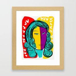 Portrait Sud Light Pop Framed Art Print