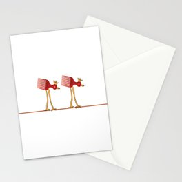 Night Hair Style Stationery Cards