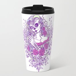 Sexy Woman zombie WITH Flower -  Carla - Vivid Violet - Lavender Travel Mug
