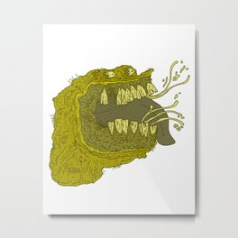 Slimey Metal Print