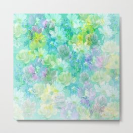 Enchanted Spring Floral Abstract Metal Print
