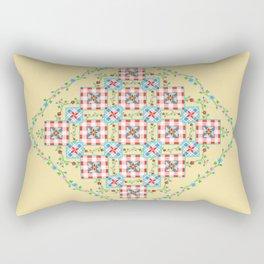Cottage Chic Gingham Rectangular Pillow