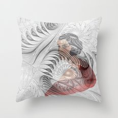 behind the fractal -c- Throw Pillow