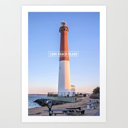 Barnegat Light - Long Beach Island - New Jersey. Art Print