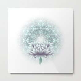Tibet. Sacred geometry. Flower of Life Metal Print