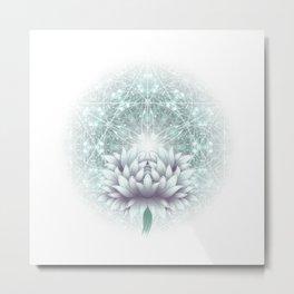 Tibet. Sacred geometry. Flower of Life Metal Print