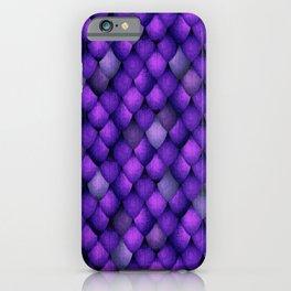 Purple Dragon Scales iPhone Case