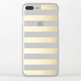 Simply Striped Gilded Palace Gold Clear iPhone Case