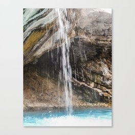 Hot Sulphur Springs Waterfall Canvas Print