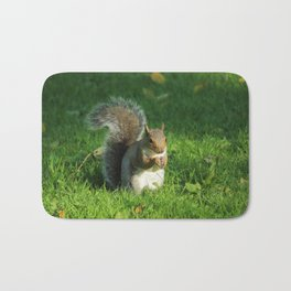 Grey Squirrel, Bute Park, Cardiff Bath Mat