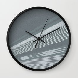 Abstract asymmetrical pattern in shades of gray . Wall Clock